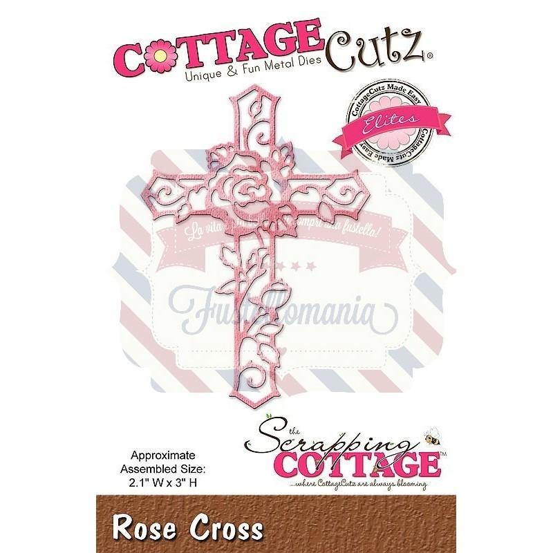 Fustella metallica Cottage Cutz Rose Cross
